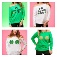 St Patricks Off Shoulder Long Sleeve special offer 3+1