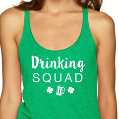 Drinking Squad Tank Top with printed Beer