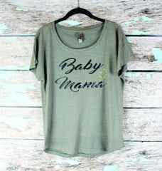 Baby Mama Tri Blend T-Shirt , Mommy To Be Gift