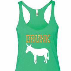 Drunk Ass Funny Party  Green Tank Top