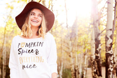 Pumpkin Spice & Everything Nice Women's Off Shoulder Sweatshirt