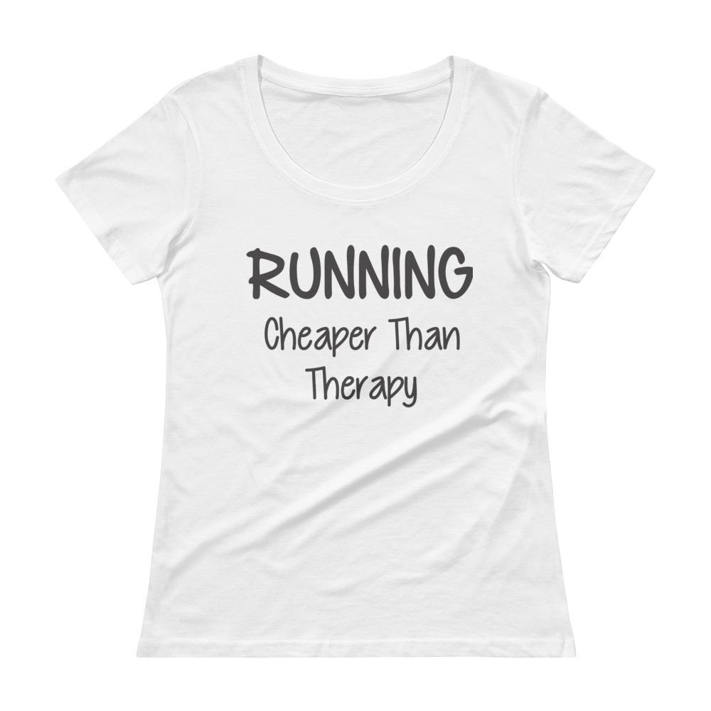 dcadc4b07f3 ... Cheaper Than Therapy Funny Fitness t-shirts ...