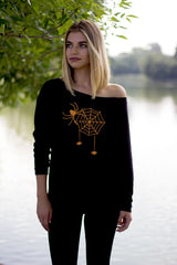 Spider Web Women's Halloween Sweatshirt