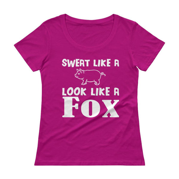 Sweat Like a Pig Look Like a Fox Workout Apparel Top