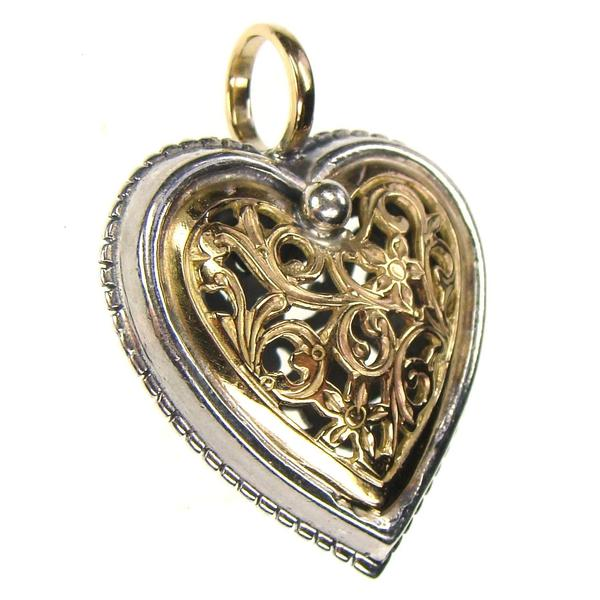 Small Garden Shadows Heart Pendant