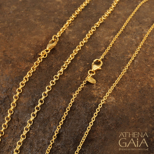 1.0mm or 2.0mm 14k or 18k Gold Chain