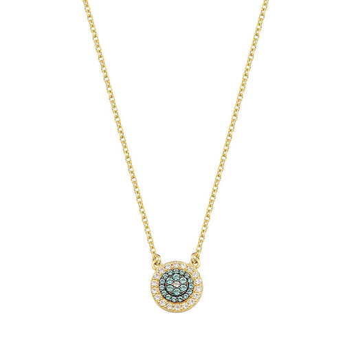 Paraiba Tourmaline Mati Evil Eye Necklace