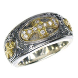 Diamond Maltese Cross Band Ring
