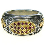 Ruby Field Maltese Cross Band Ring