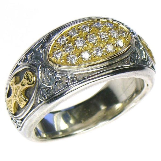 Diamond Field Maltese Cross Band Ring