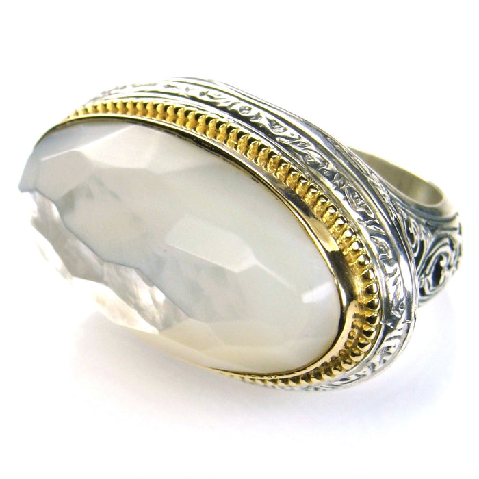 Wide Oval Top Large Stone Ring