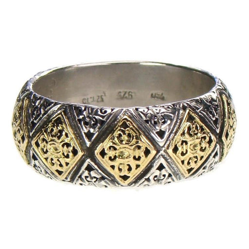 Garden Gates Checker Band Ring