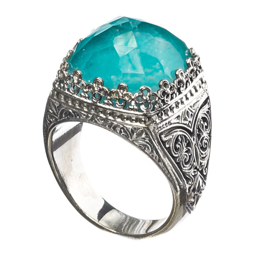Pop Rocks Silver Soft Square Crown Ring