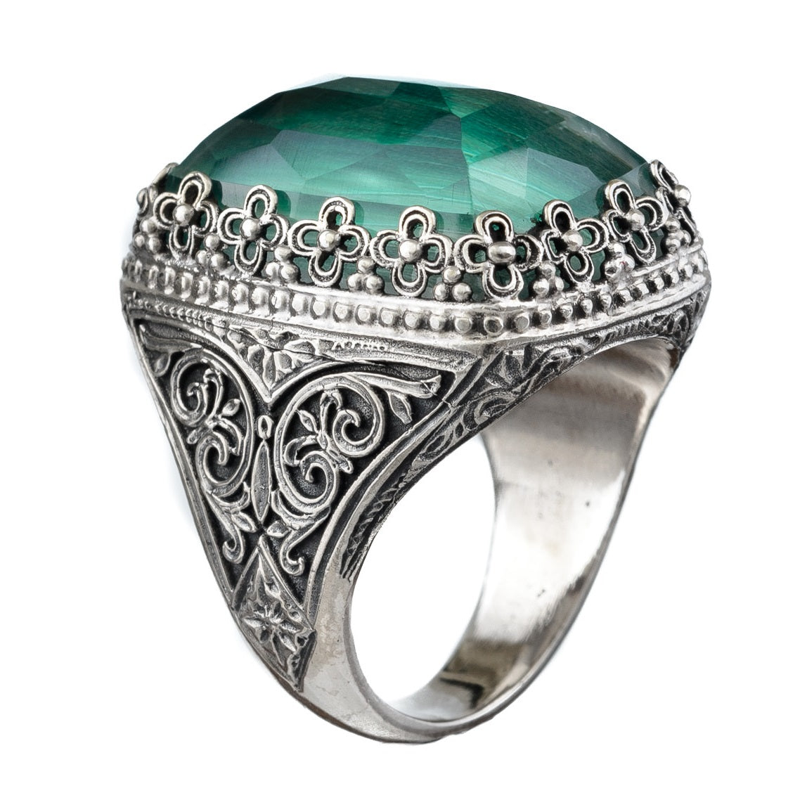 Pop Rocks Silver Orthogonio Crown Ring