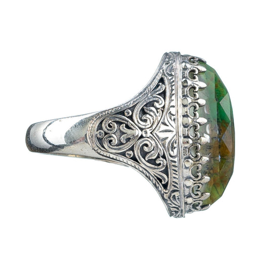 Pop Rocks Silver Short Soiree Ring
