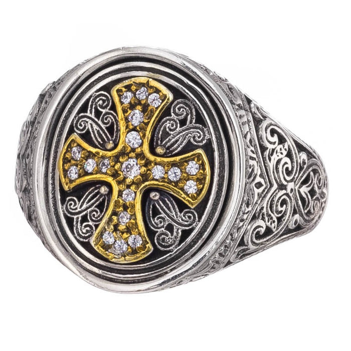 Gerochristo Diamond Cross Ring