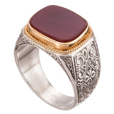 Gerochristo Men's Carnelian Band Ring
