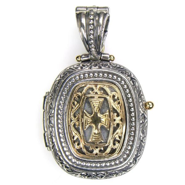 Gold Faced Barrel Locket