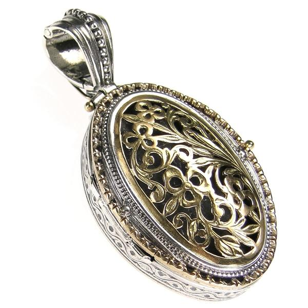 The Oval Floral Garden Shadows Locket