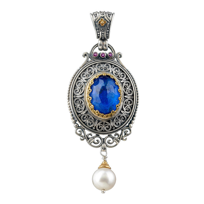 Pop Rocks Synergy Framed Oval Pearl Drop Pendant