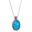 Pop Rocks Flower Field Bezel Oval Pendant