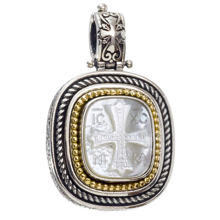 Mother of Pearl ICXC Pendant