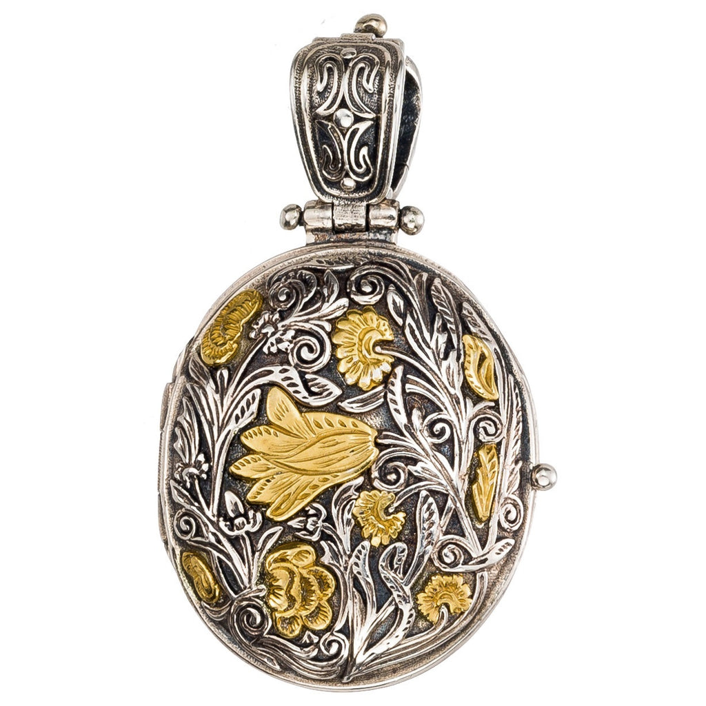 Wild Flower Oval Locket