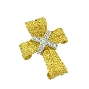 Wide Ribbon Cross