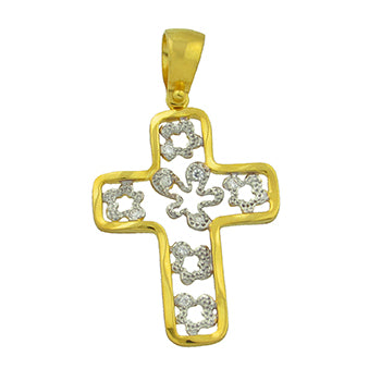 Two-Toned Perforated Cross