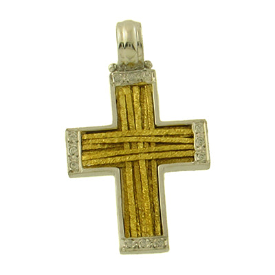 Two-Toned Striped Cross
