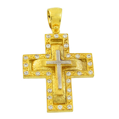Triple Rustic Cross