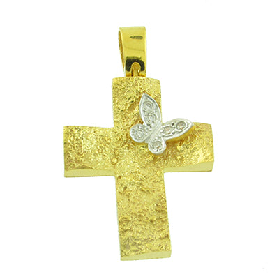 Rough Hewn Butterfly Cross