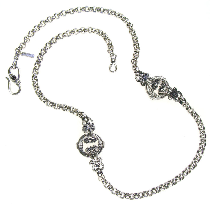 Silver Circle Twin Station Necklace