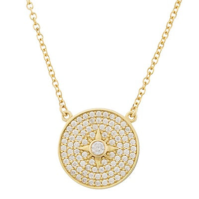 Al'Oro Stone Disc Necklace