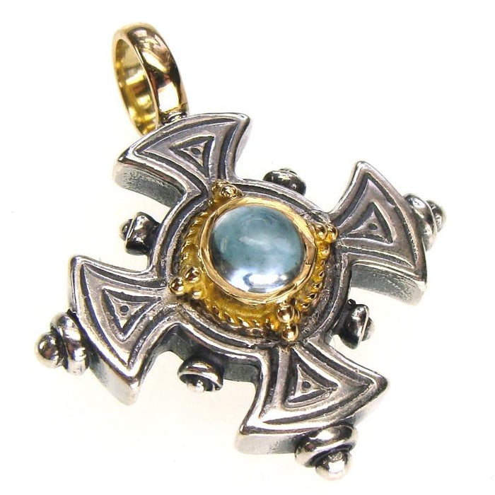 Maltese Stone Silver Cross