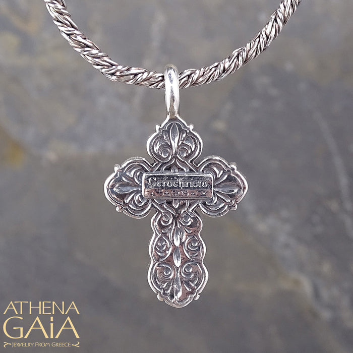 Silver Orthodox Cross