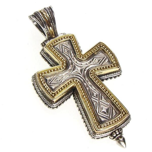Gold Border Western Cross Locket