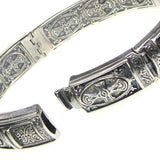 Silver Crosses Bangle Bracelet