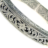 Garden Shadows Silver Bangle Bracelet