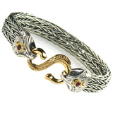 Gold S Clasp Strap Supple Bracelet
