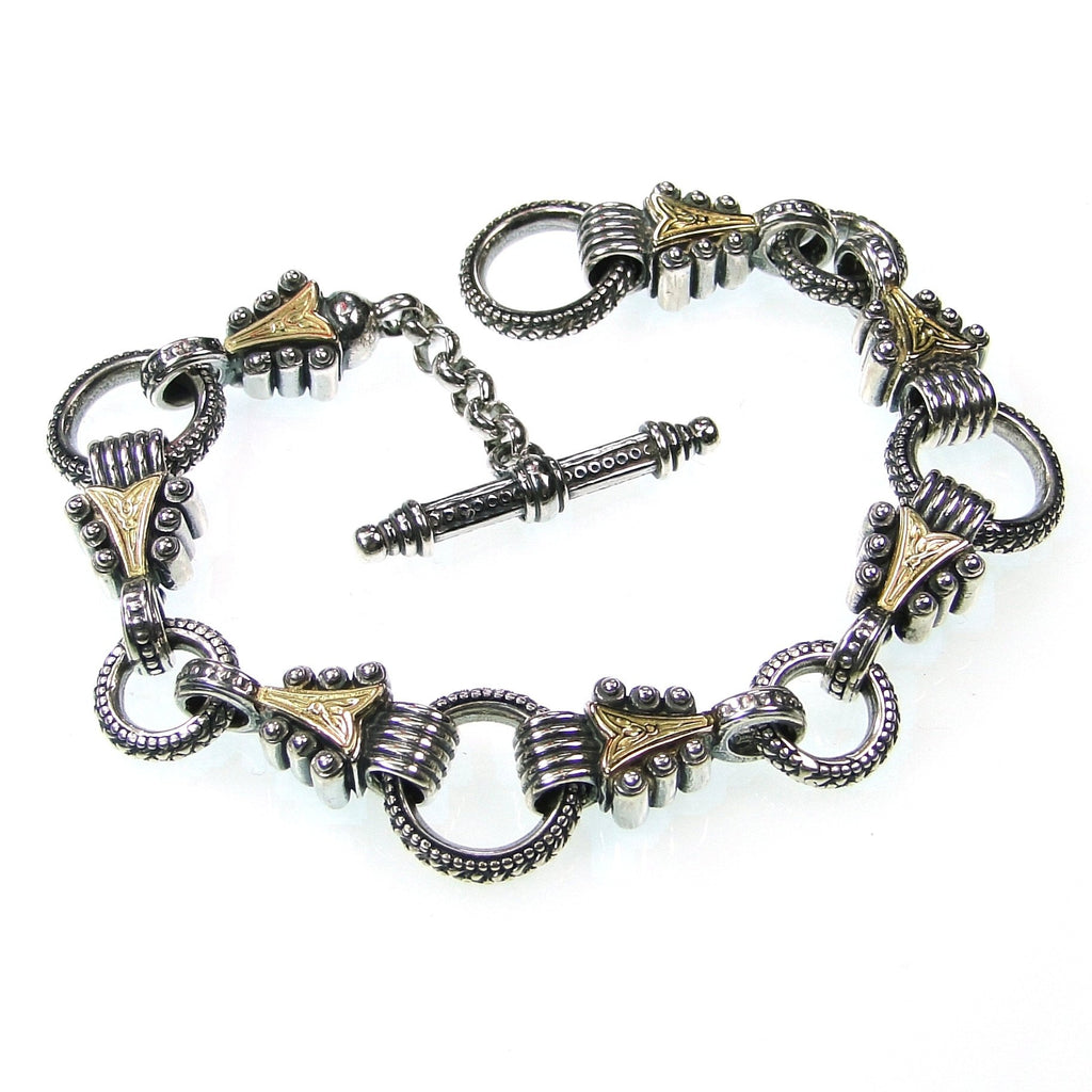 Gold Arrow Empty Charm Bracelet