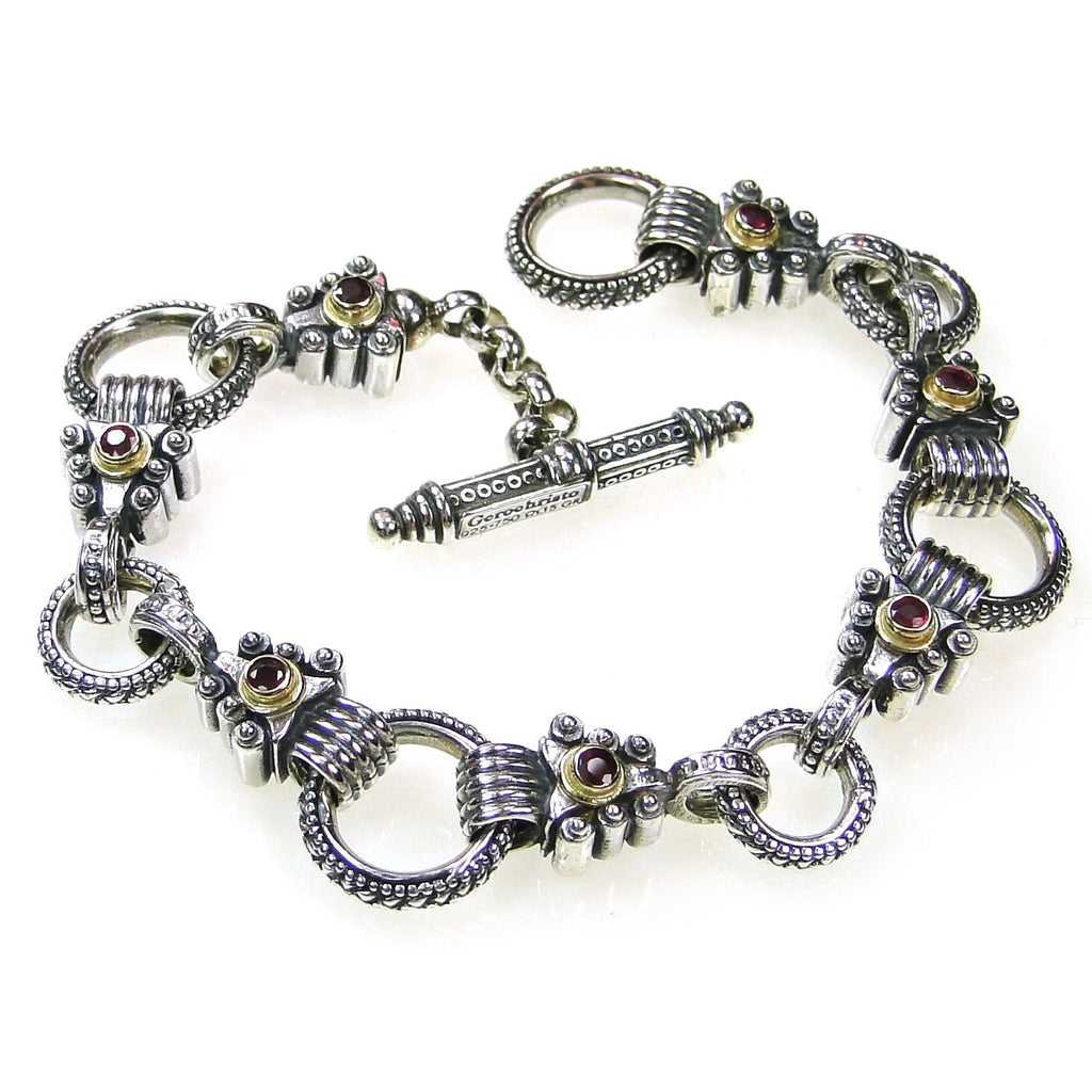 Ruby Arrow Empty Charm Bracelet