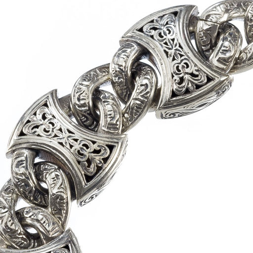 Heavy Axeheads Silver Curb Link Bracelet