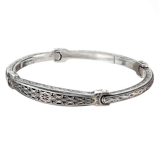 Silver Garden Shadows Flex Bangle Bracelet