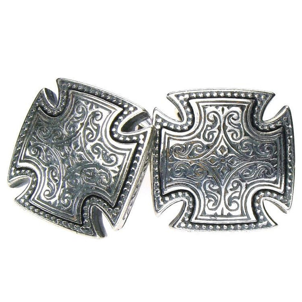 Strong Silver Cross Cufflinks