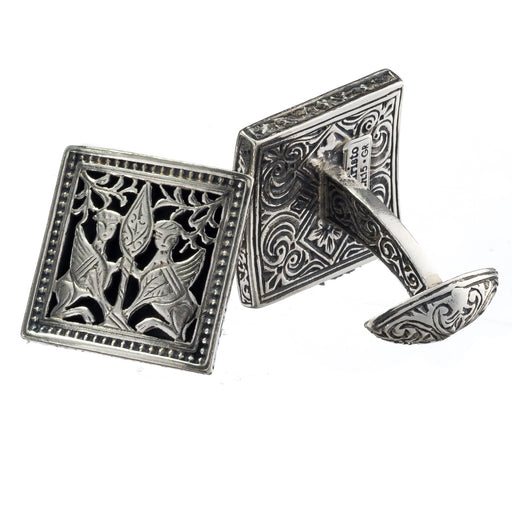 Monesteraki Church Gryphon Silver Cufflinks