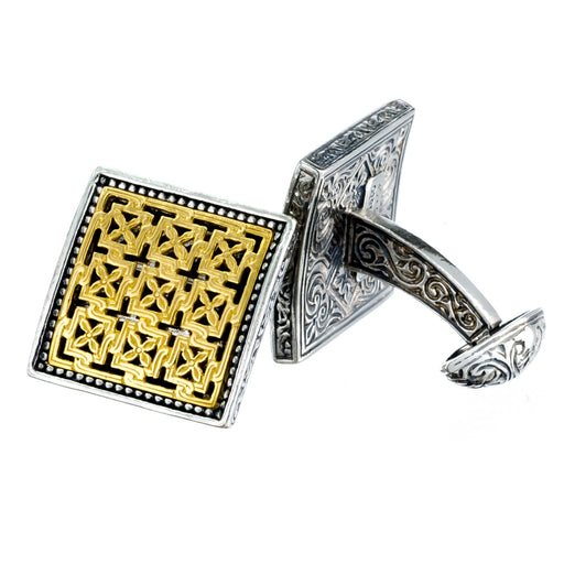 Monesteraki Church Garden Trellis Cufflinks
