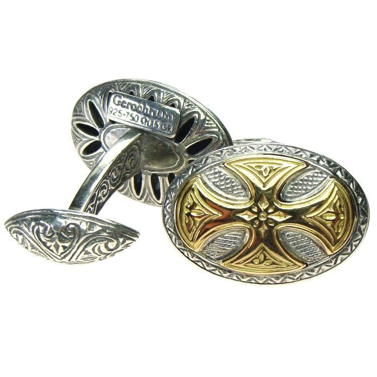Oval Maltese Cross Cufflinks