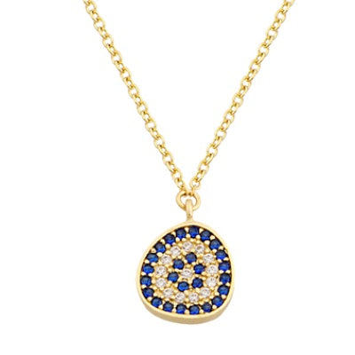 Pebble Mati Evil Eye Necklace