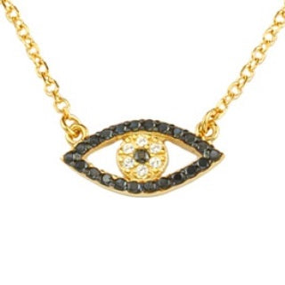 Pave Mati Evil Eye Beaded Necklace